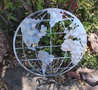 World Global Metal Art Map