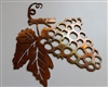 Metal Wall Art Decor Small Grape Bushel
