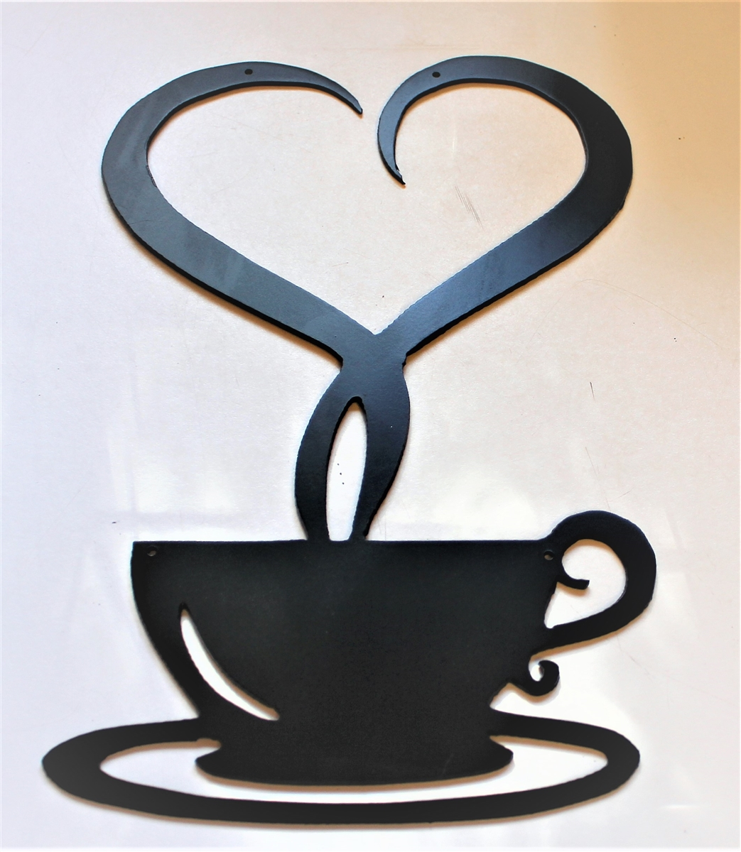 Steamed-with-Love-Coffee-Metal-Wall-Decor-Satin Black