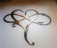 Infinity Heart Metal Wall Art Accent