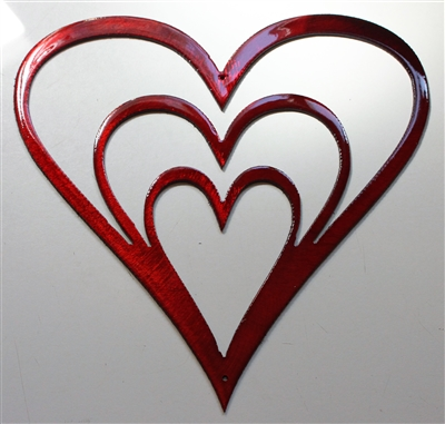 Heart Trio Metal Wall Art