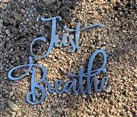 Just Breathe Metal Wall Art Accents