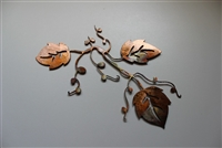 Decorative Leaf Branch Metal Art Decor