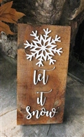 Let it Snow Pallet Wood Re purposed Sign