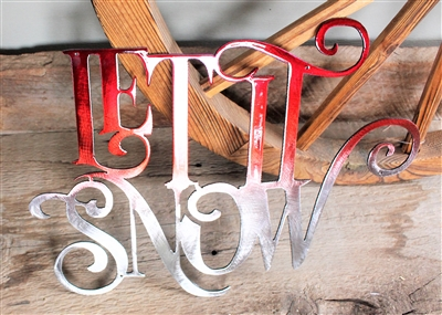 Let It Snow Metal Wall Art Decor