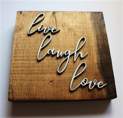 Live Love Laugh pallet wood sign