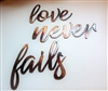 love never fails metal wall art accents