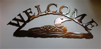 Loon Welcome Sign Metal Wall Decor