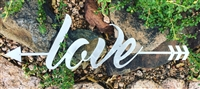 Love Arrow Metal Wall Art
