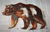 Mother Bear Metal Wall Art Accent