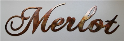 Merlot Metal Art Sign Copper/Bronze Plated