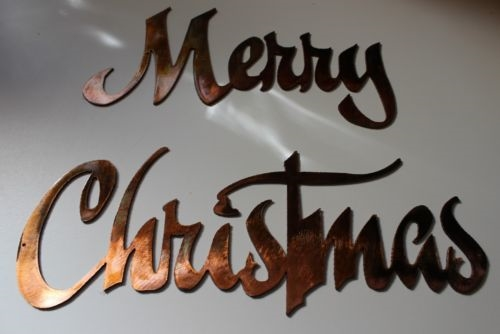 Quot Merry Christmas Quot Metal Wall Art Decor