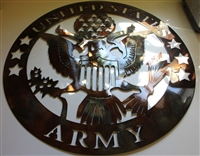 Military Logo #7 Metal Wall Art