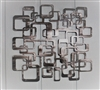 Retro Squares Modern Metal Art