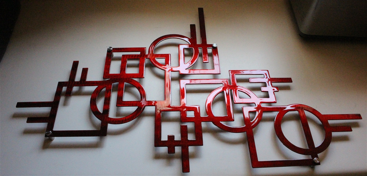 Red Metal Wall Art twitter