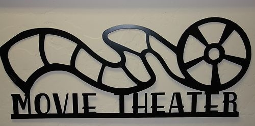 Movie Theater Reel Sign \