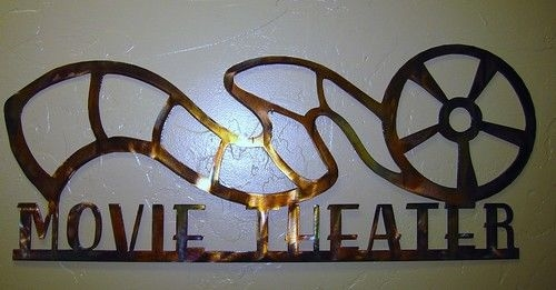 Movie Theater Reel Sign Quot 24 Metal Wall Art Decor Copper