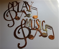 Music & Play Musical Duo set Metal Wall Art MINI