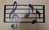 Music Scale with notes Metal Wall Art