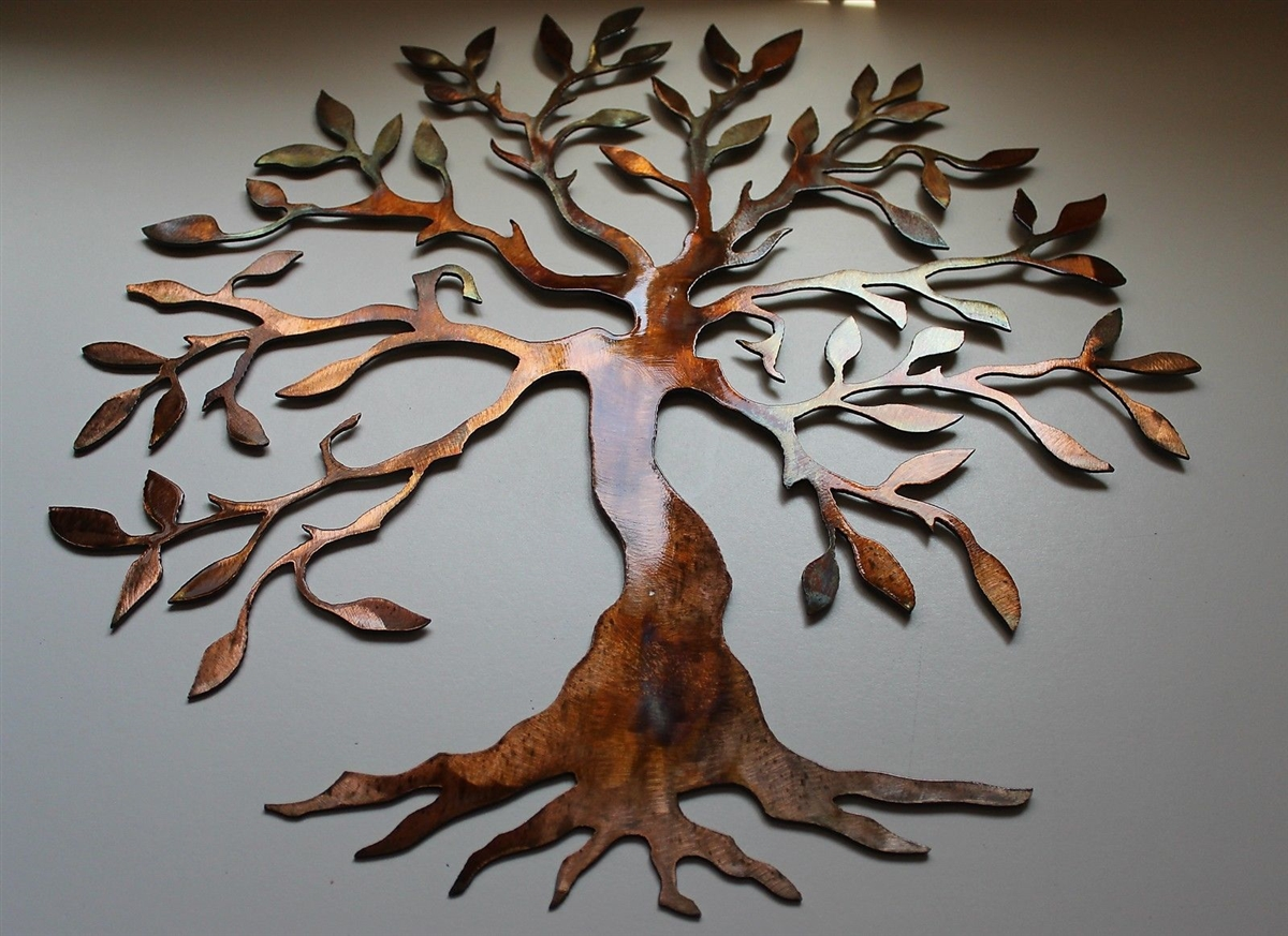 Olive Tree Of Life Metal Wall Art