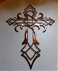 Ornamental Cross Metal Wall Art Decor Copper/Bronze Plated