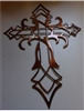 Ornamental Cross Metal Wall Art Decor Copper/Bronze Plated 22""
