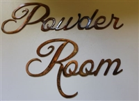 """Powder Room"" Metal Wall Art Decor"
