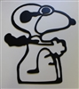 Red Baron Snoopy Metal Wall Art