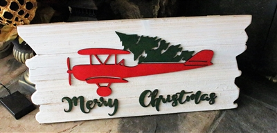 Red Airplane Merry Christmas