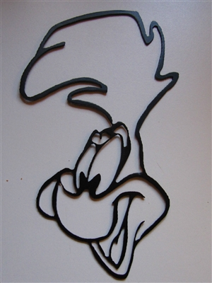 Road Runner Head Metal Wall Art