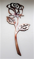 Rose Metal Wall Art Accent