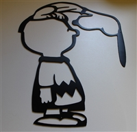 Silly ol Dog! Charlie & Snoopy Metal Wall Art