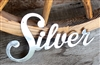 Silver Metal Wall Word Accent