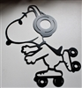 Skating Snoopy Metal Art