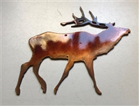 Small Elk Accent Metal Art or Craft Accent