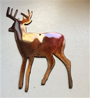 "Small Deer Wildlife Metal Art Accent 6"" tall"