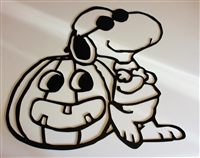 Snoopy Metal Art Pumpkin