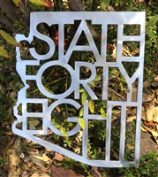 State 48 Metal Wall Art