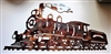Steam Engine Train Metal Art
