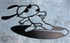 Surfing Snoopy Metal Wall Art by HGMW