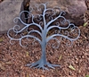 Swirled Tree of Life Metal Decor