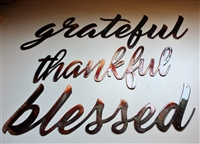 thankful grateful blessed metal wall art decor