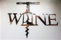 Wine Metal Wall Art Accent Uncorked