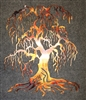 Weeping Willow Metal Wall Art Tree