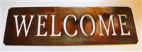 Welcome Metal Art Plaque
