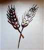 Metal Wall Art Wheat Accent