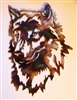wolf face metal wall art
