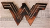 "Wonder Woman Metal Art 13 1/2"" Wide Newly Done Copper/Bronze"