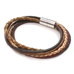 Mini Mixed Leather Bracelet - Earth