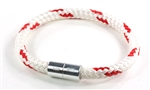 "Suki Nautical - 1/4"", White with Red Stripe"